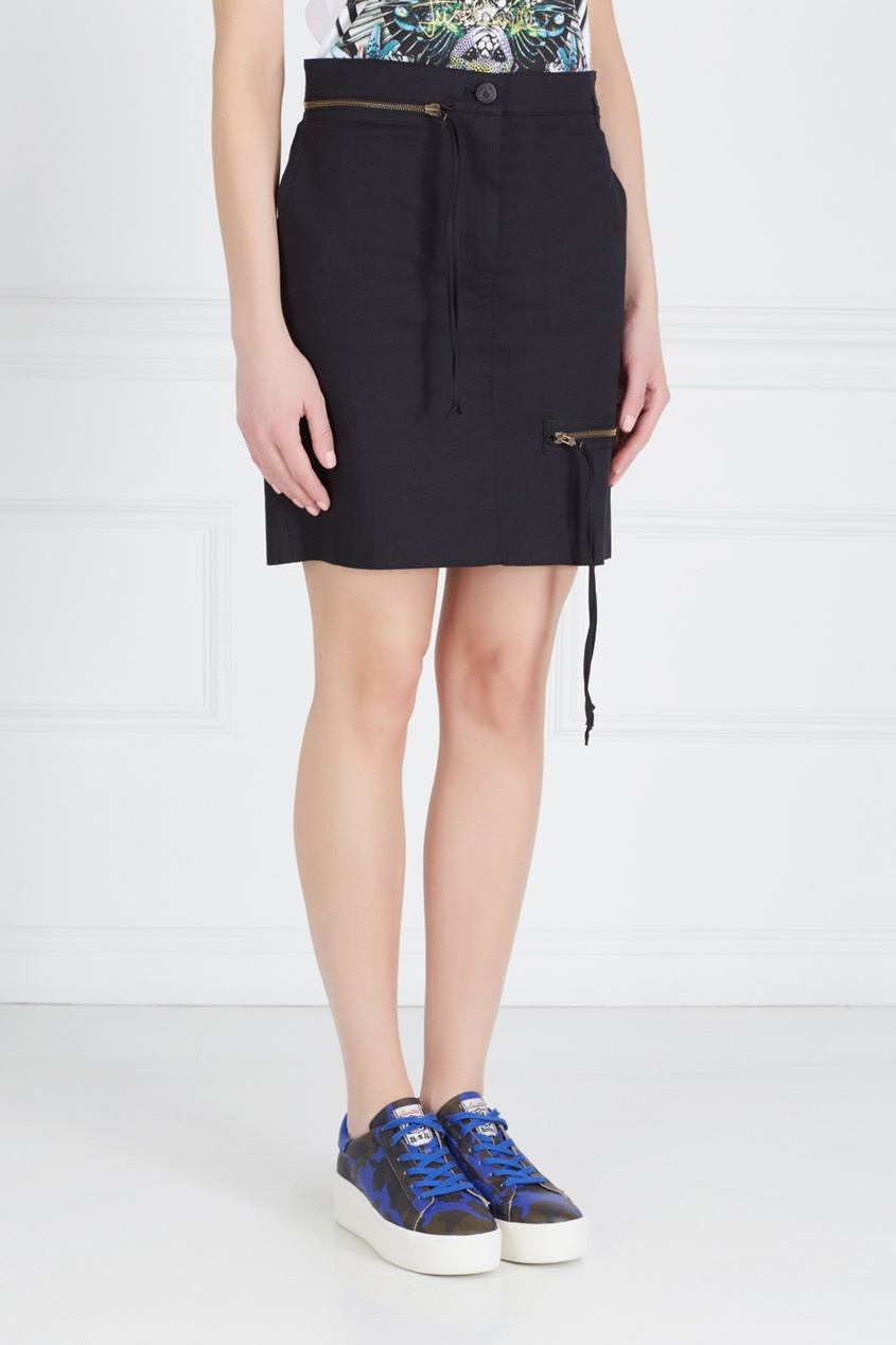 Vivienne Westwood Anglomania Хлопковая юбка Zipper Skirt