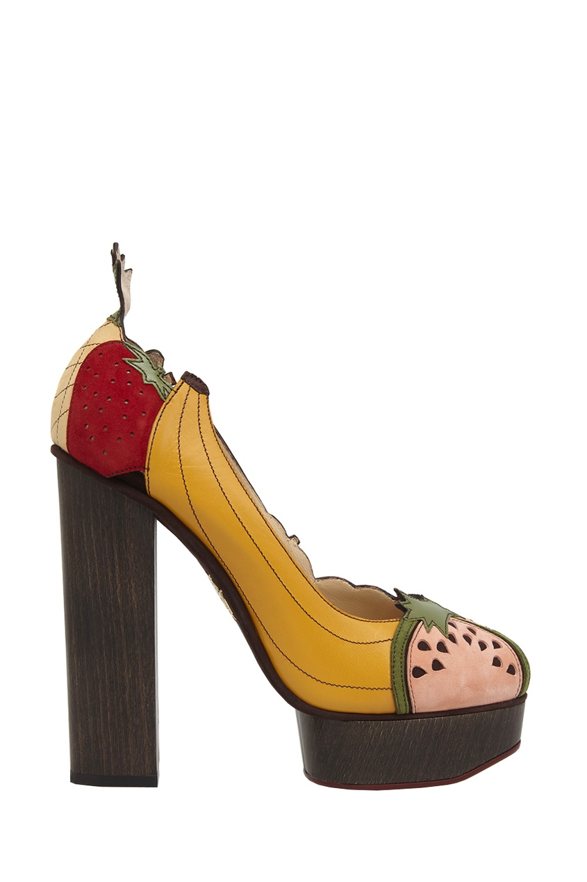 Charlotte Olympia Кожаные туфли Banana Is My Business charlotte olympia кожаные туфли willa
