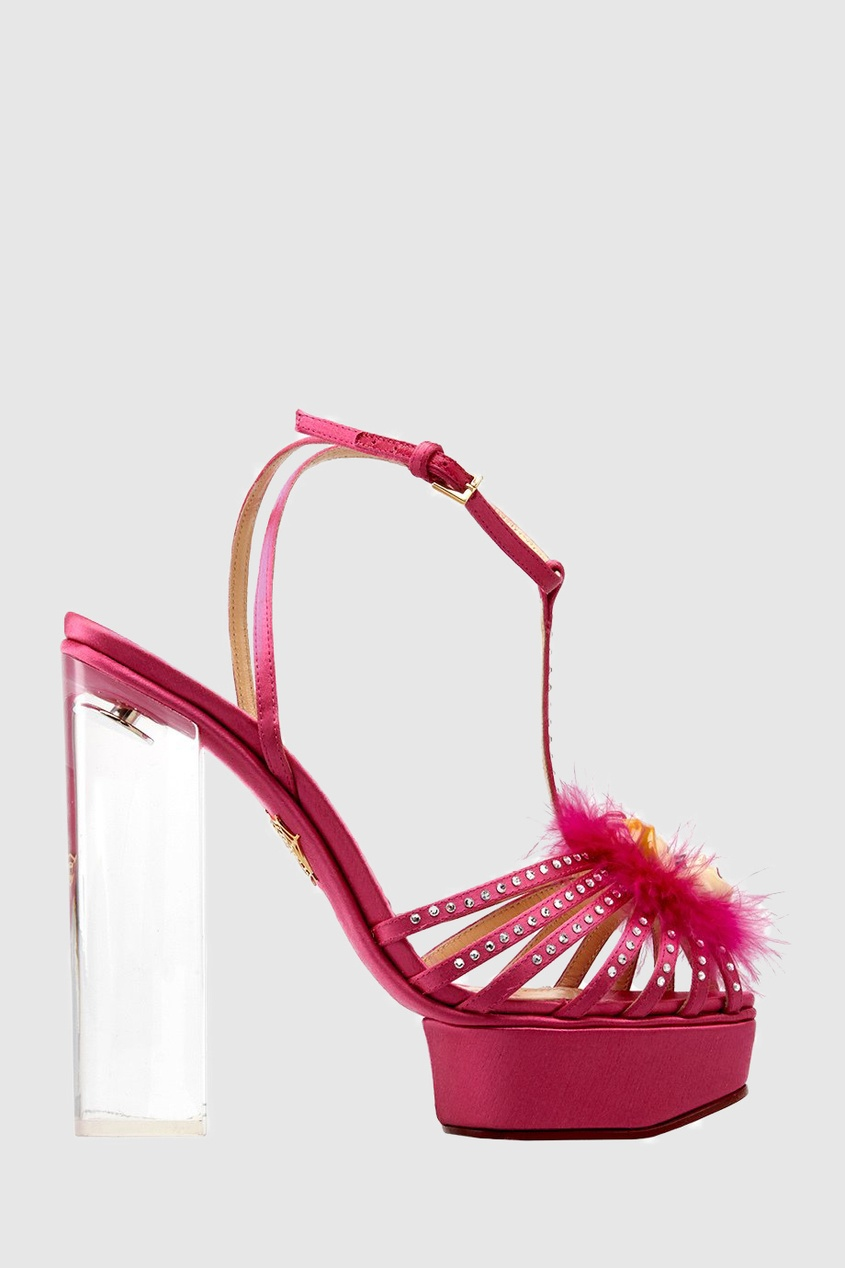 Charlotte Olympia Атласные босоножки Barbie Girl charlotte olympia клатч barbie world