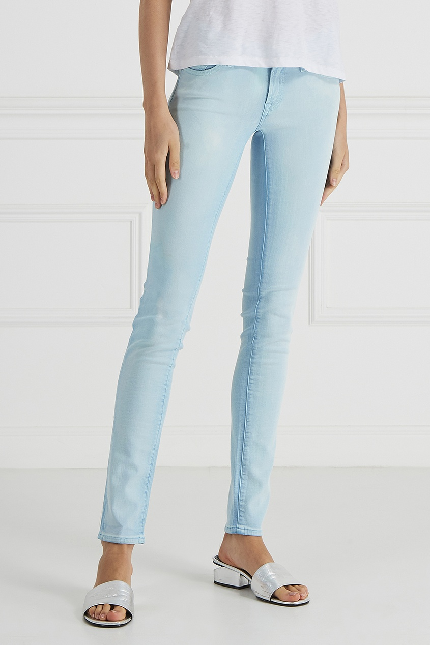 7 For All Mankind Комбинированные джинсы 7 for all mankind джинсы the skinny