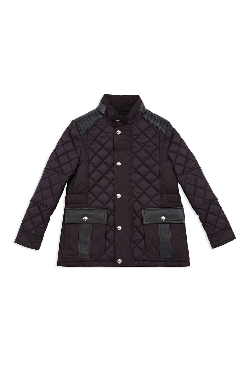Черная стеганая куртка от Billionaire Boys Club