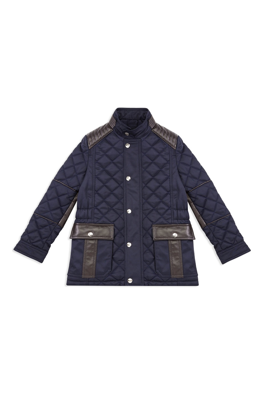 Синяя стеганая куртка от Billionaire Boys Club
