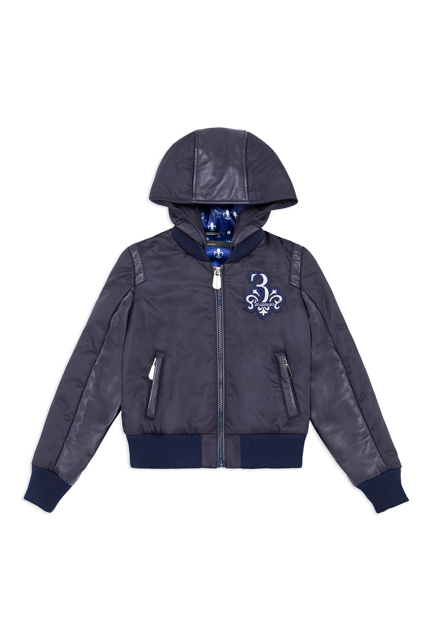 Комбинированная куртка с аппликацией от Billionaire Boys Club